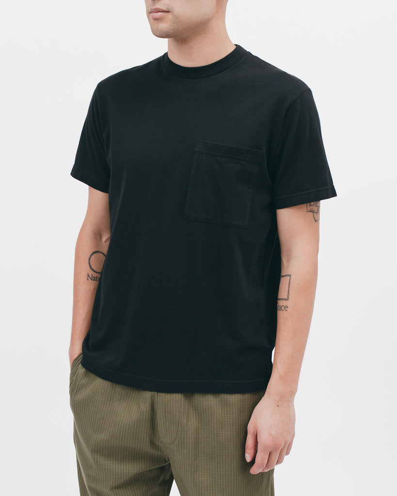 NATURAL DYED BLOCK SS JERSEY - BLACK