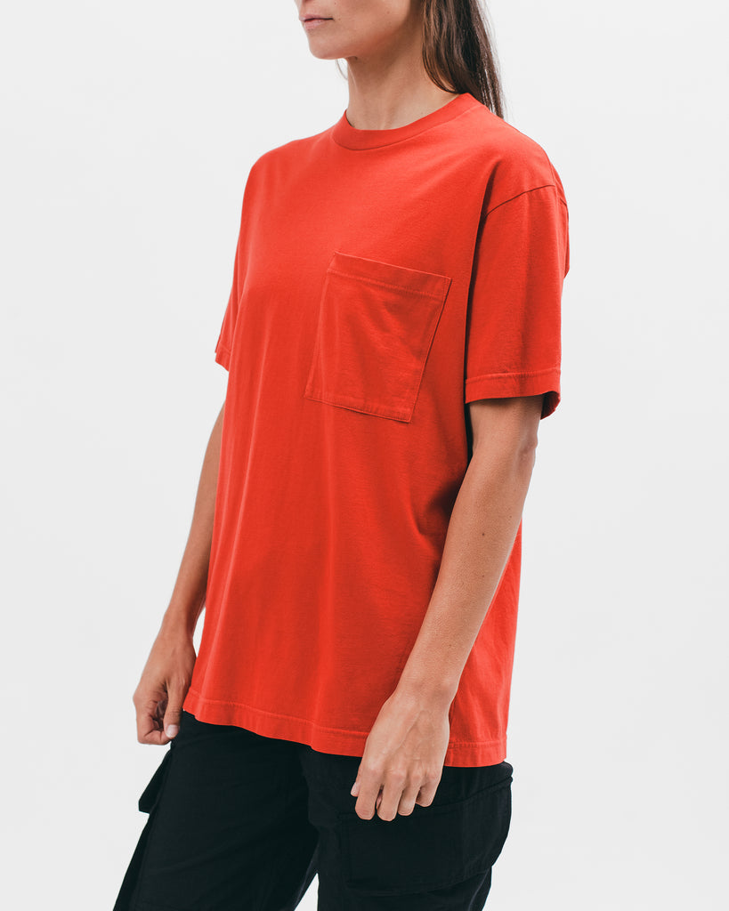 NATURAL DYED BLOCK SS JERSEY - TOMATO
