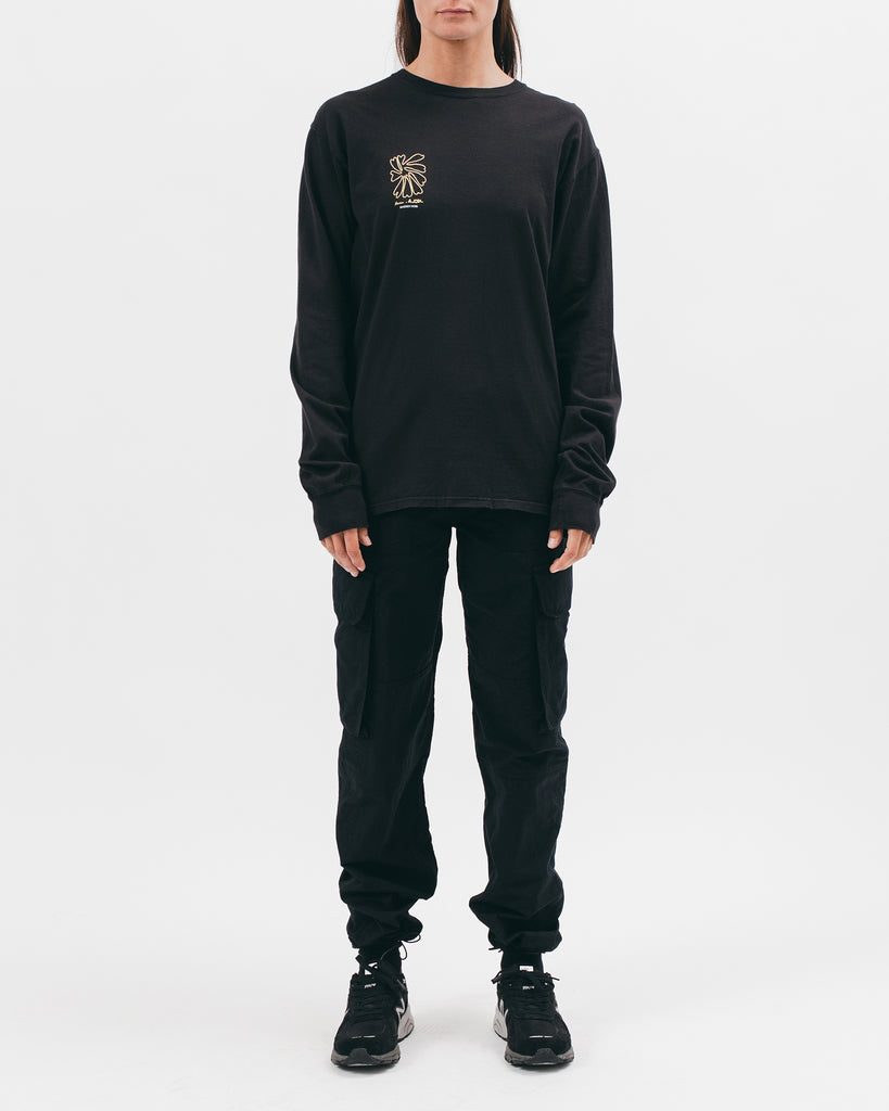 SELF PORTRAIT L/S TEE - BLACK