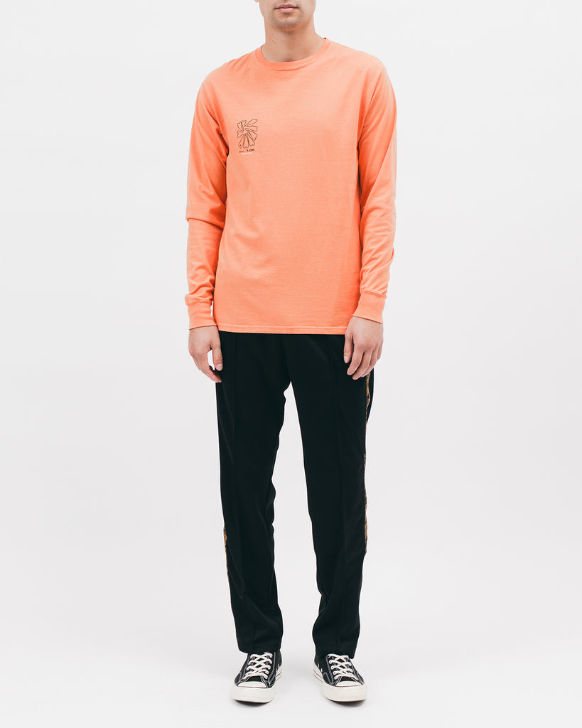 SELF PORTRAIT L/S TEE - TERRACOTTA
