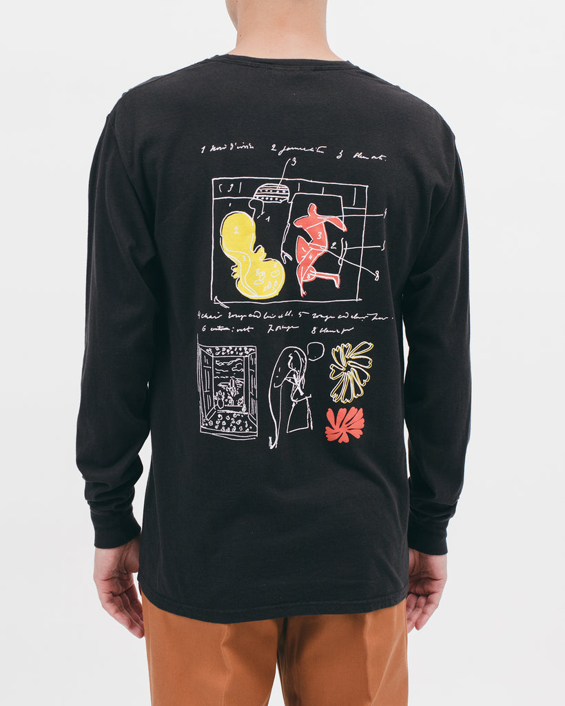 WINDOW INTO TANGIER L/S TEE - BLACK