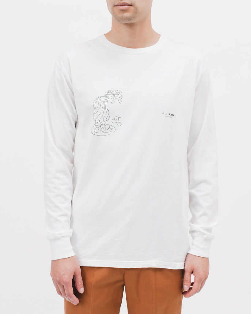 WINDOW INTO TANGIER L/S TEE - WHITE