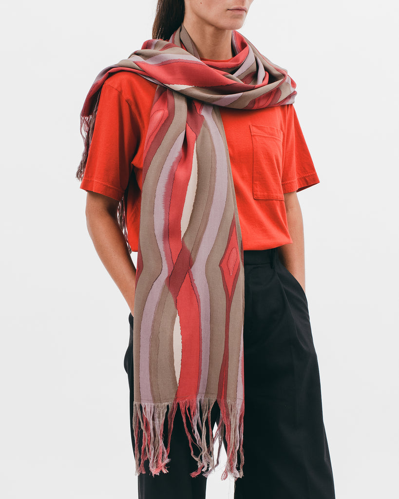 RAYON OVERSIZED SCARF - WATERCOLOR