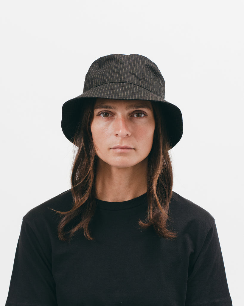 BUCKET CAP - BLACK GRID