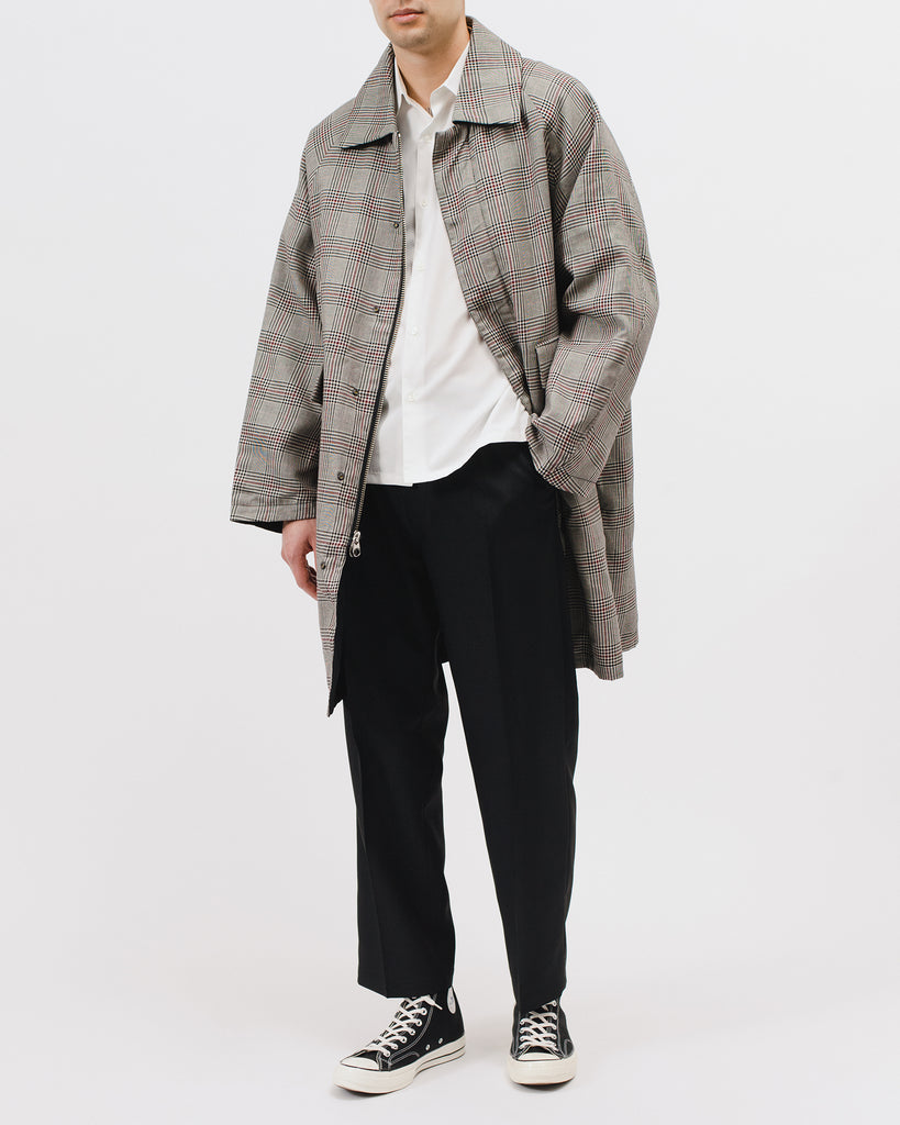 CHECK OVERCOAT - WHALES PLAID
