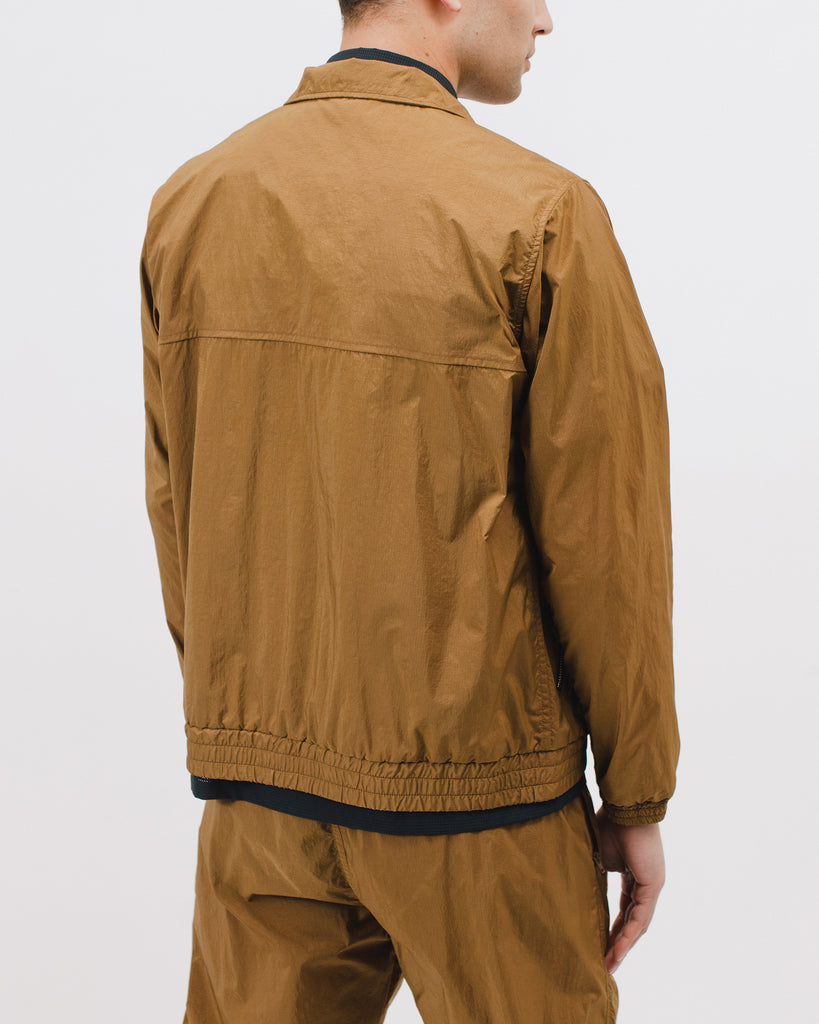 WARM UP JACKET - TOBACCO