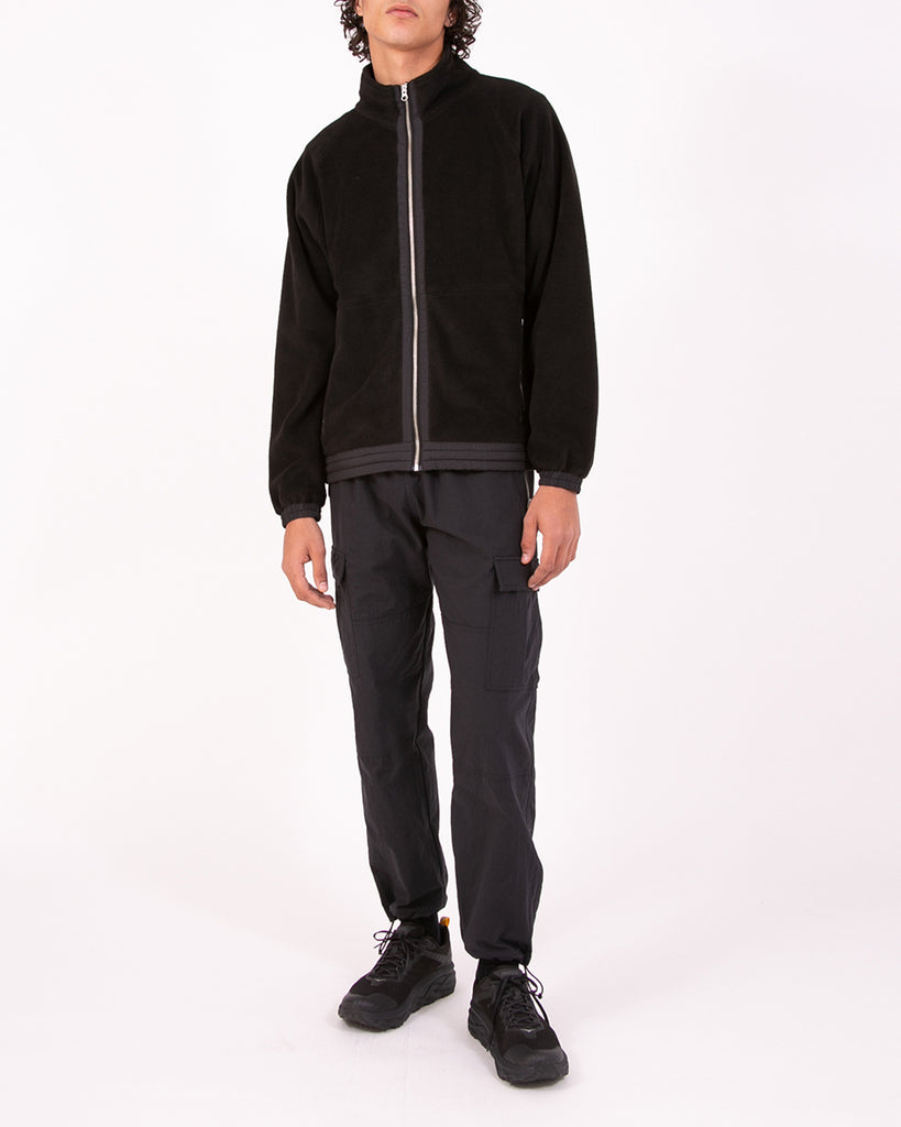 MOCK ZIP FLEECE - BLACK(3130)