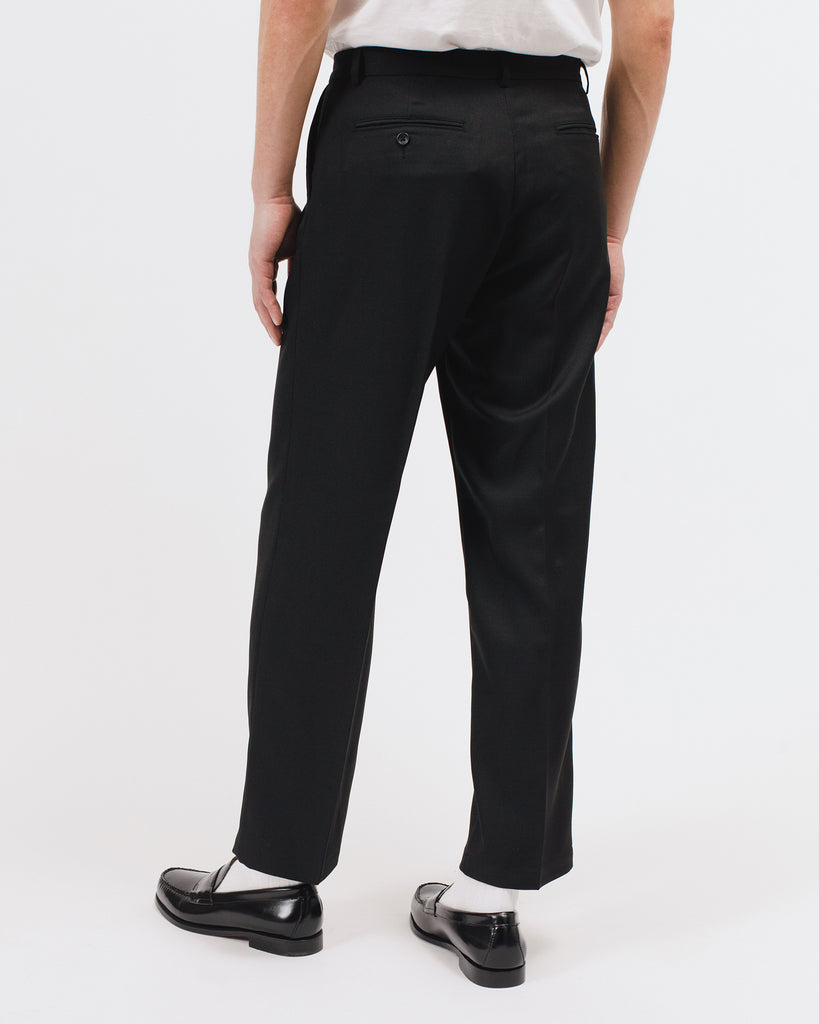 PLEATED SUIT TROUSER - BLACK(3021)