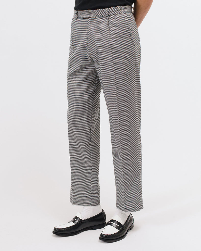 PLEATED SUIT TROUSER - HOUNDSTOOTH(3021)