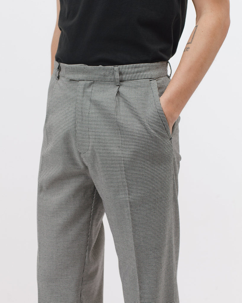 PLEATED SUIT TROUSER - HOUNDSTOOTH