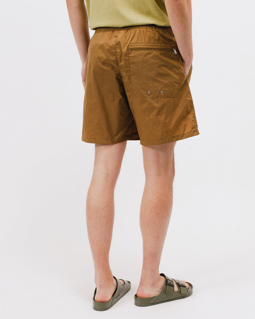 WARM UP SHORTS - TOBACCO