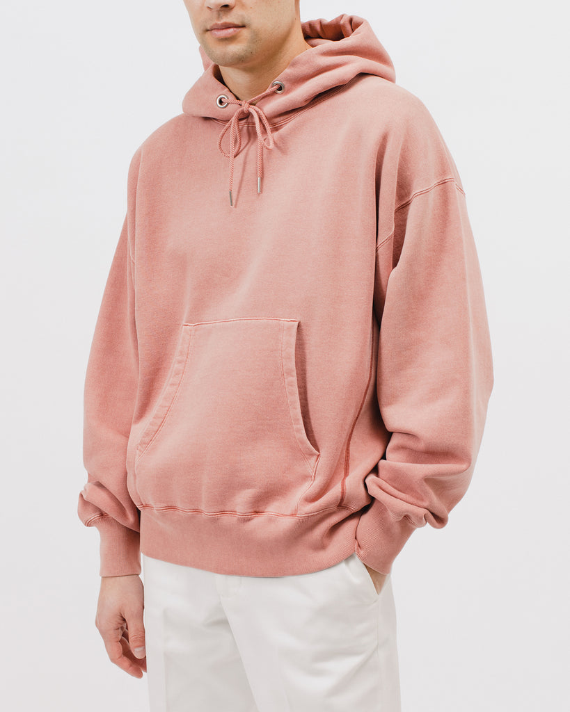 NATURAL DYED HOODIE FLEECE - BRICK