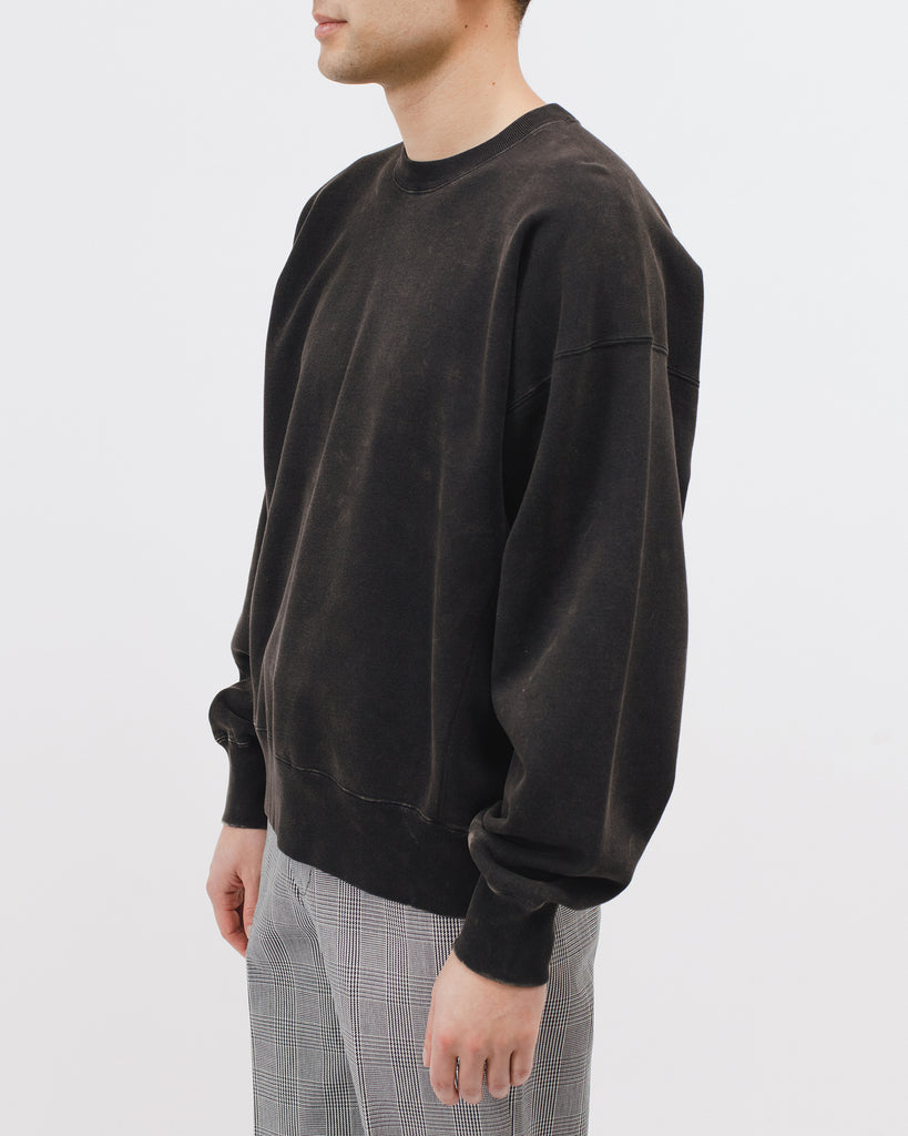 NATURAL DYED CREW FLEECE - GRAPHITE
