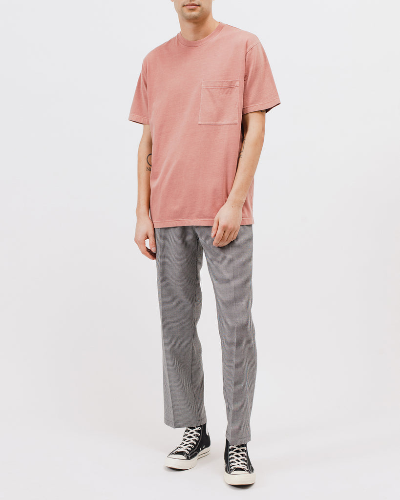 NATURAL DYED BLOCK SS JERSEY - BRICK