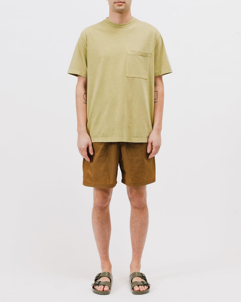 NATURAL DYED BLOCK SS JERSEY - MOSS(3234)