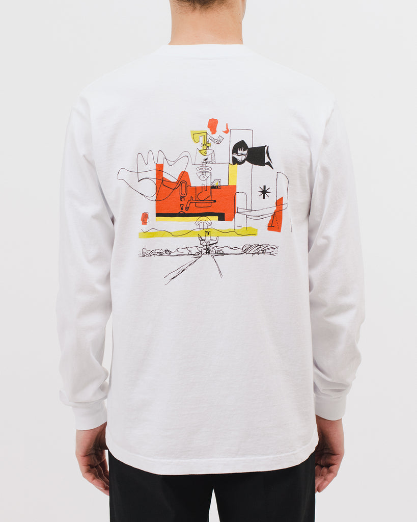 OUVERTE LS JERSEY - WHITE