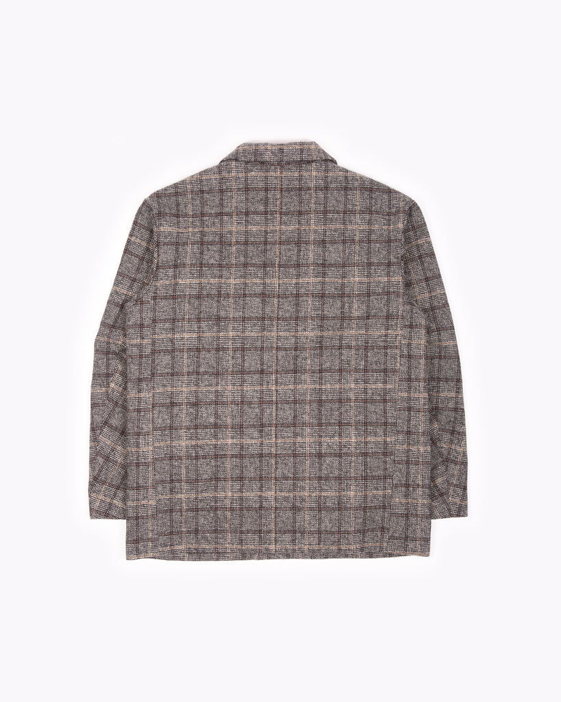 DOUBLE BREASTED COAT - GLEN PLAID(3102)