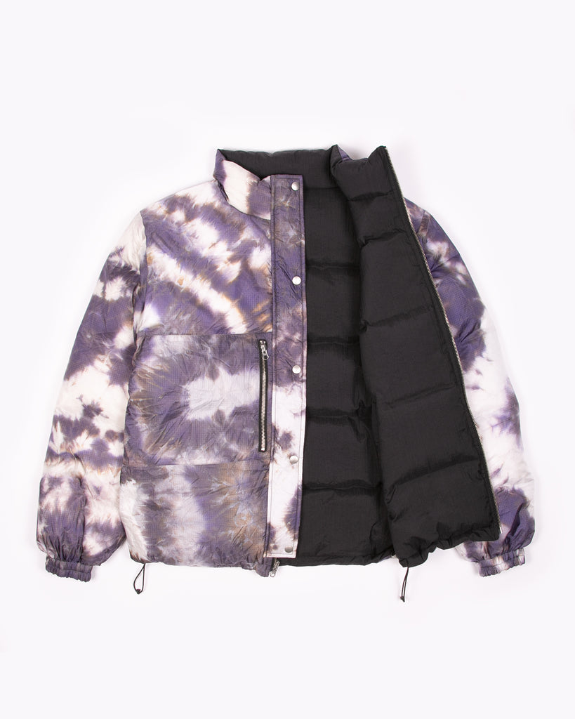 REVERSIBLE PUFFER JACKET - BLACK / PURPLE ASH DYED(3103)
