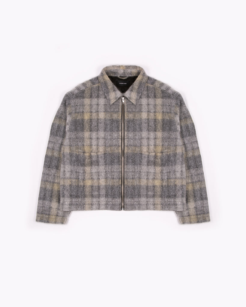 ZIP CHORE JACKET - FADE PLAID WOOL(3107)