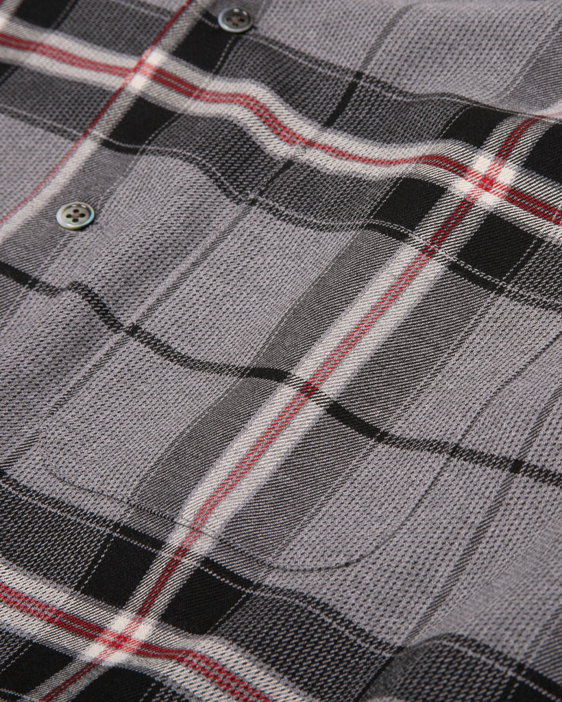LS PLAID SHIRT - GREY PLAID(3112)