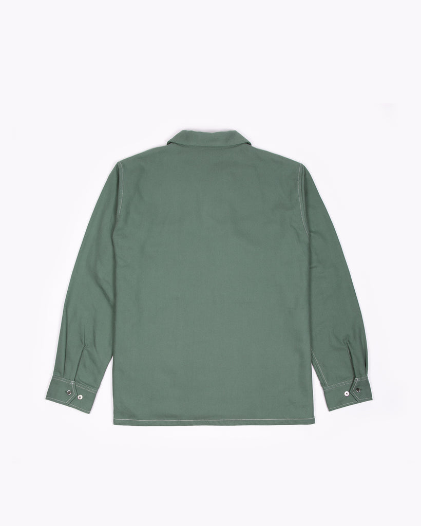 LS BOXY CONTRAST SHIRT - TEAL(3113)