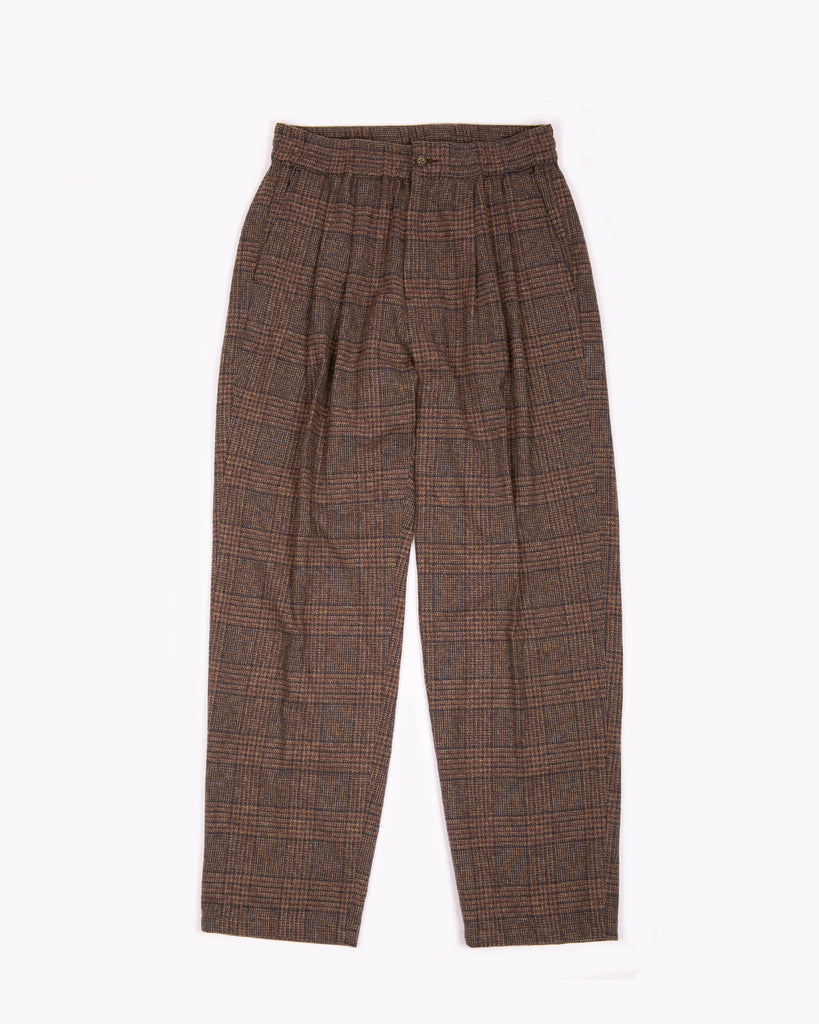 ELASTIC TROUSER - BROWN PLAID(3123)