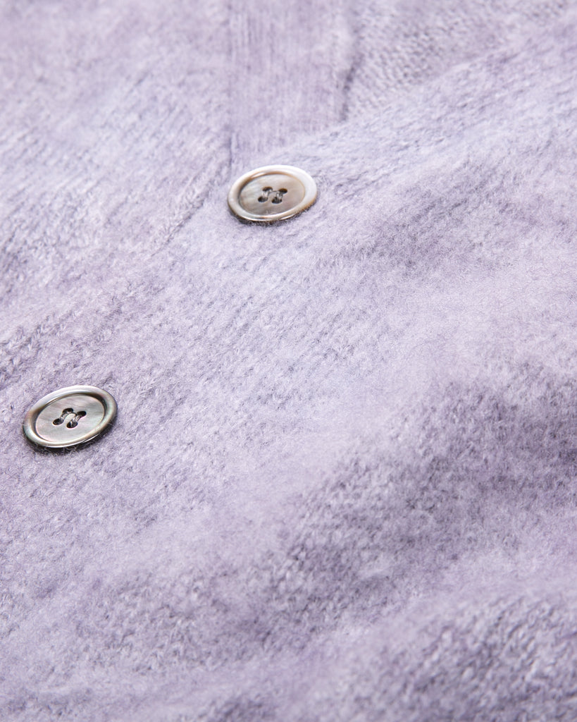 MOHAIR DYED CARDIGAN - PURPLE ASH DYED(3131)