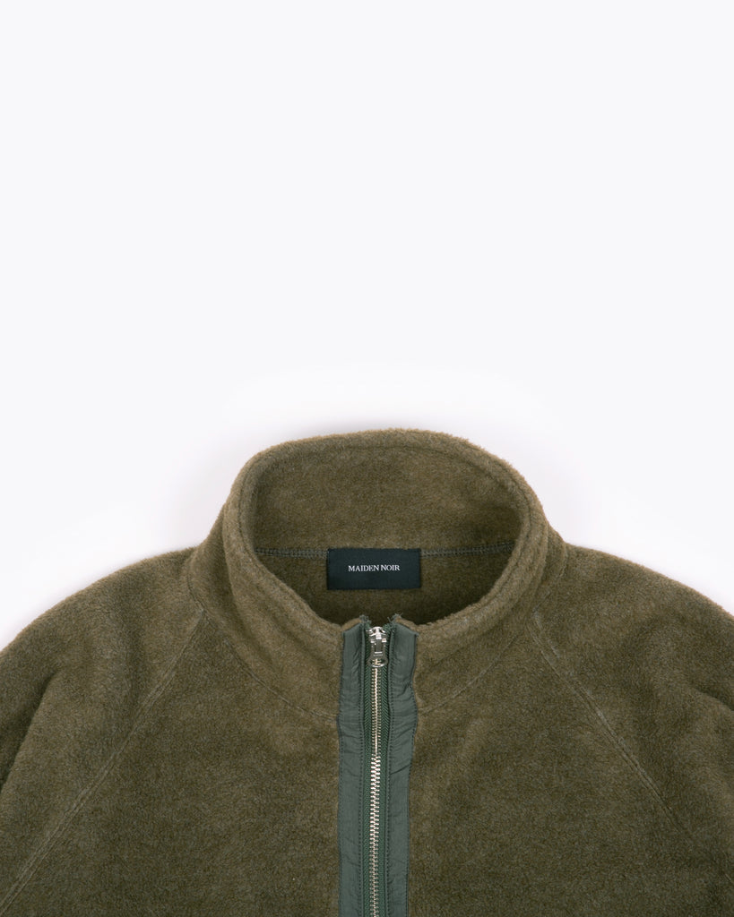 MOCK ZIP FLEECE - MOSS(3130)