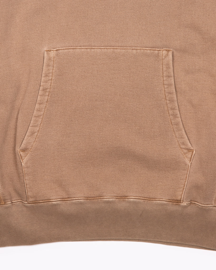 NATURAL DYED HOODIE FLEECE - BARK(3133)