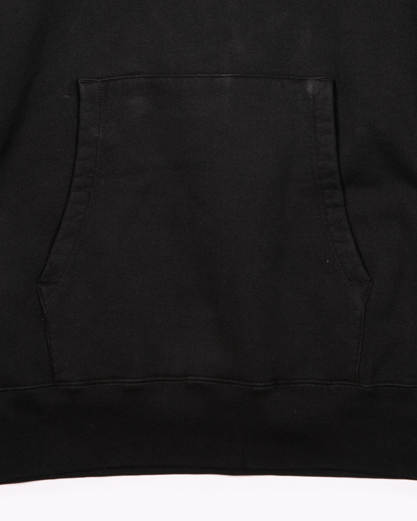 NATURAL DYED HOODIE FLEECE - BLACK(3133)