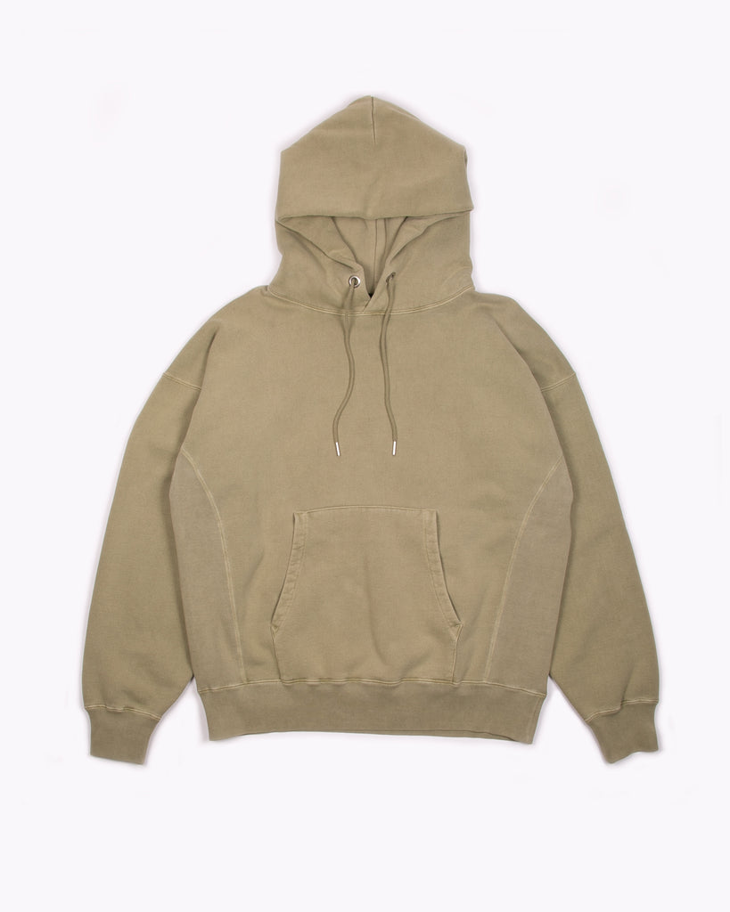 NATURAL DYED HOODIE FLEECE - LICHEN(3133)