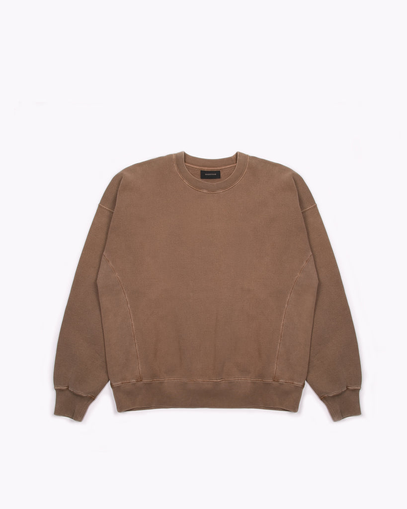 NATURAL DYED CREW FLEECE - BARK(3134)