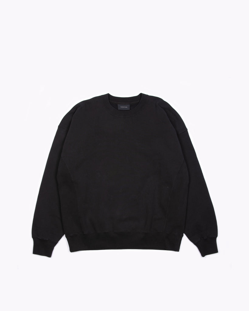 NATURAL DYED CREW FLEECE - BLACK(3232)