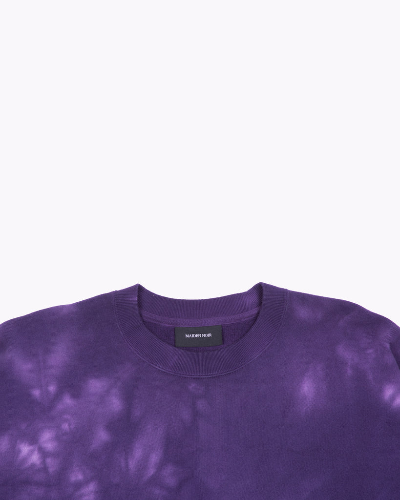 NATURAL DYED CREW FLEECE - PURPLE ASH DYED(3134)