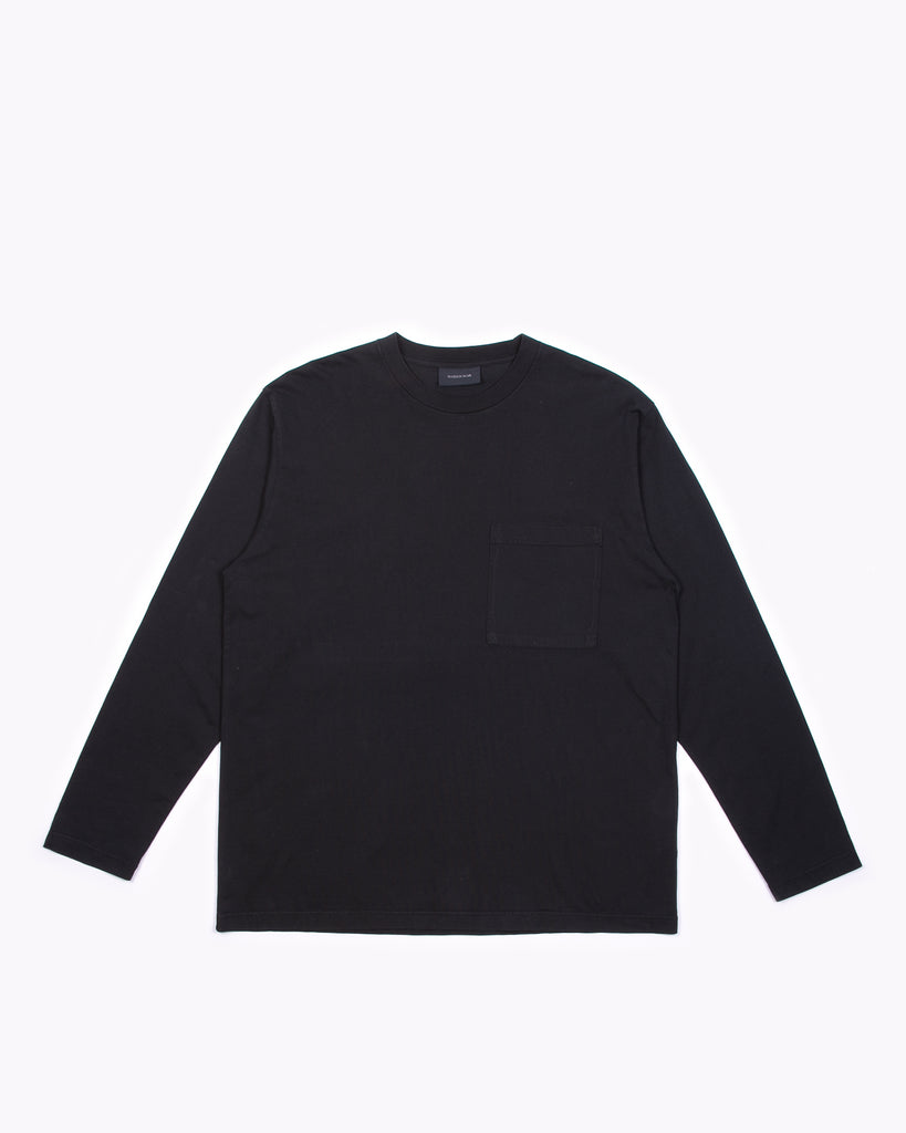 NATURAL DYED BLOCK LS JERSEY - BLACK(3233)