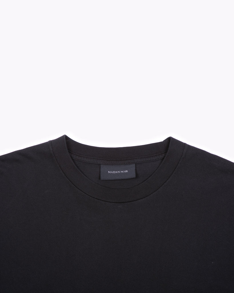 NATURAL DYED BLOCK LS JERSEY - BLACK(3135)