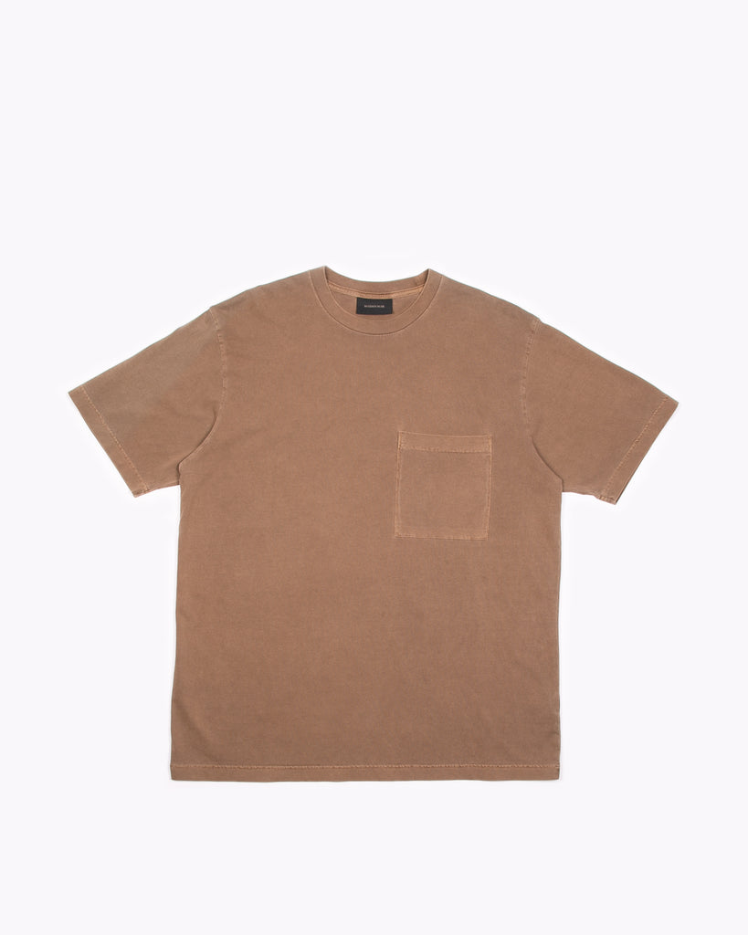 NATURAL DYED BLOCK SS JERSEY - BARK(3234)