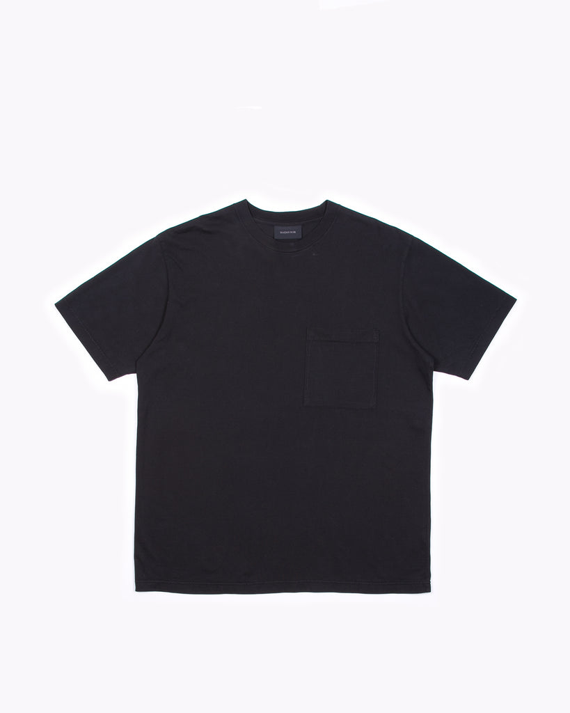 NATURAL DYED BLOCK SS JERSEY - BLACK(3136)