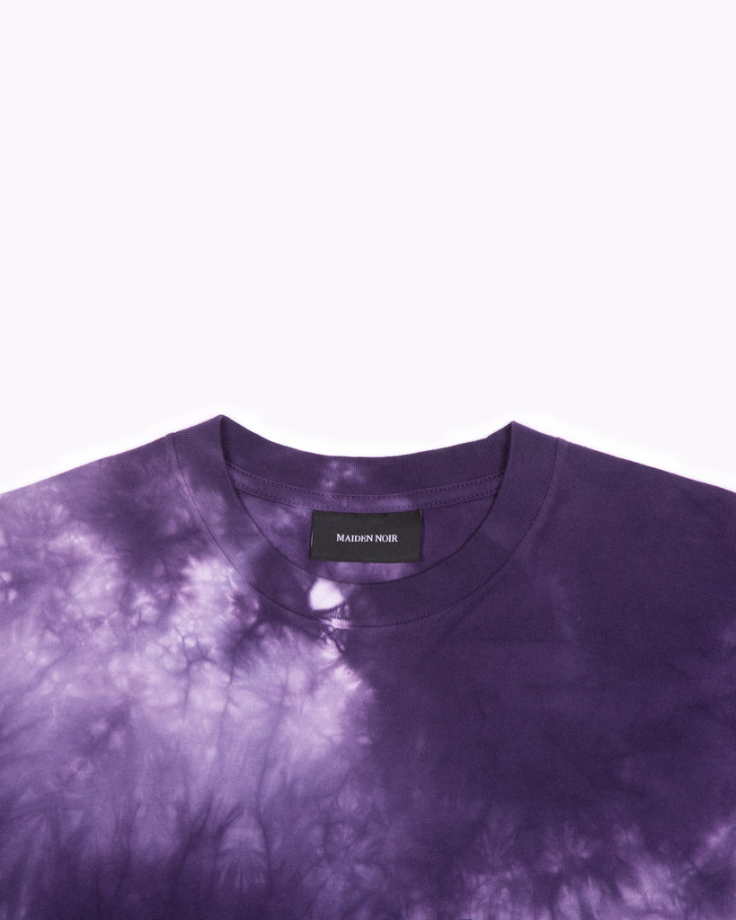 NATURAL DYED BLOCK SS JERSEY - PURPLE ASH DYED(3136)