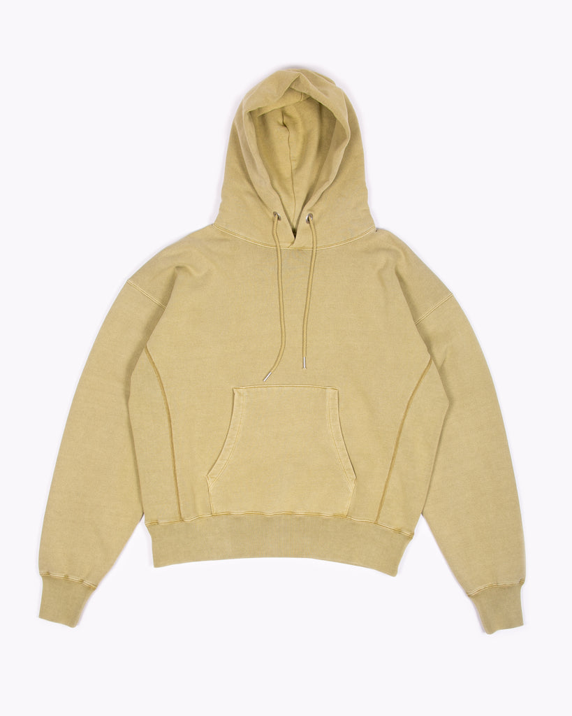 NATURAL DYED HOODIE FLEECE - MOSS(3231)
