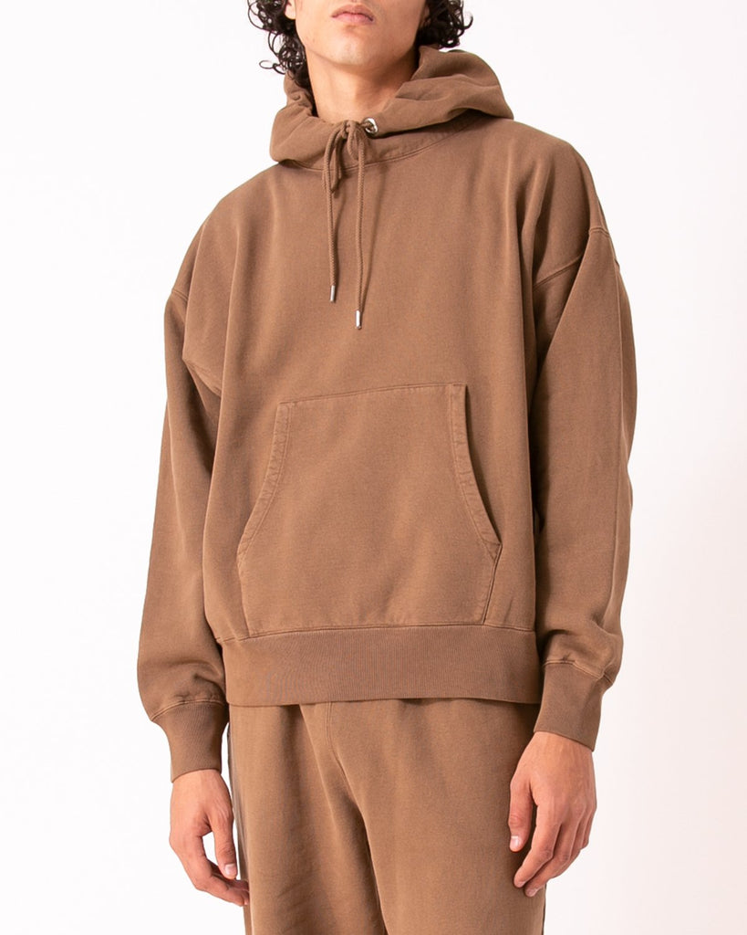 NATURAL DYED HOODIE FLEECE - BARK(3231)