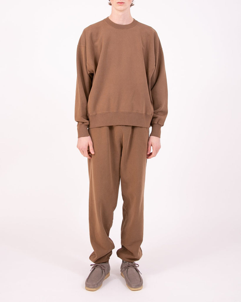 NATURAL DYED CREW FLEECE - BARK(3232)
