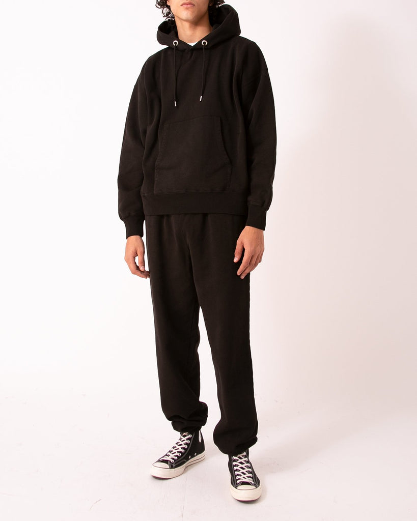NATURAL DYED HOODIE FLEECE - BLACK(3231)