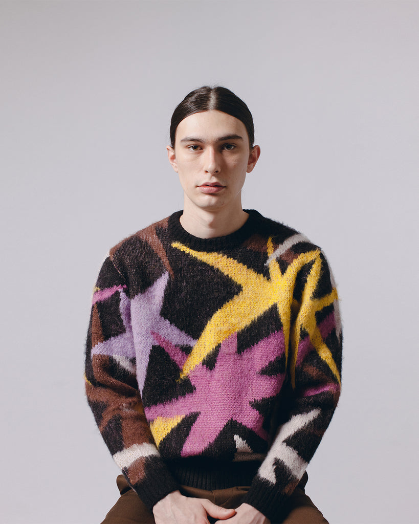 MOHAIR STAR JUMPER - EDD COX ART WORK(3132)