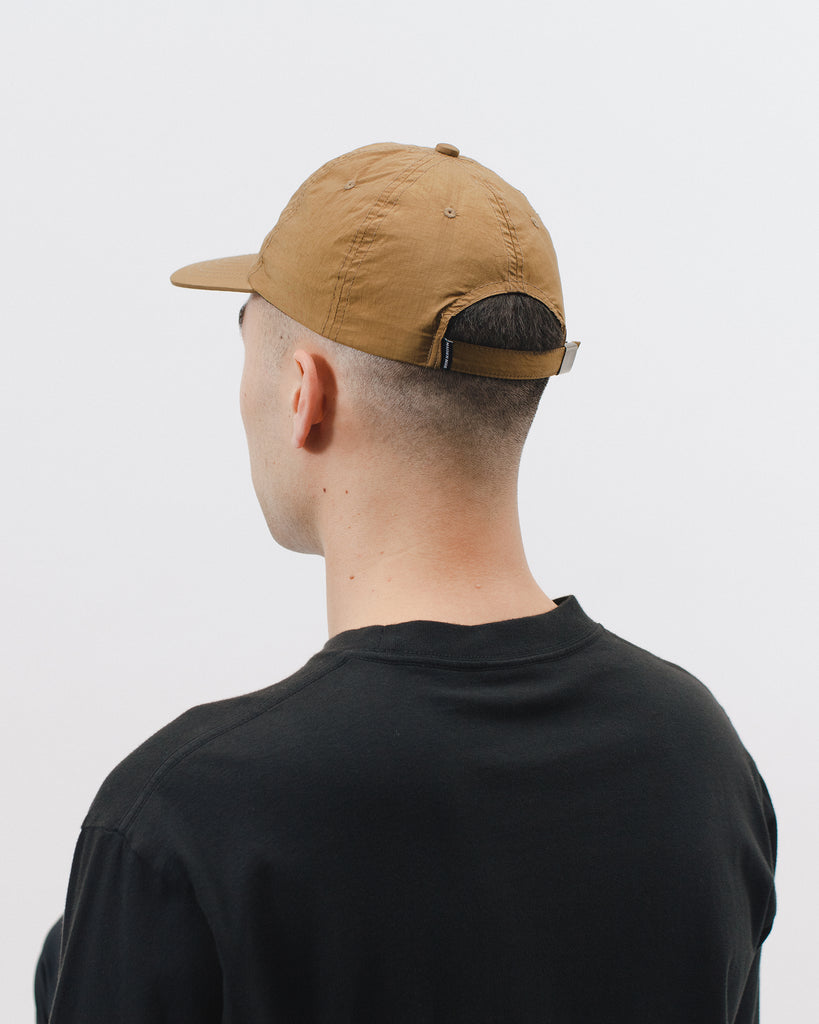 DYED NYLON BALL CAP - TABACCO