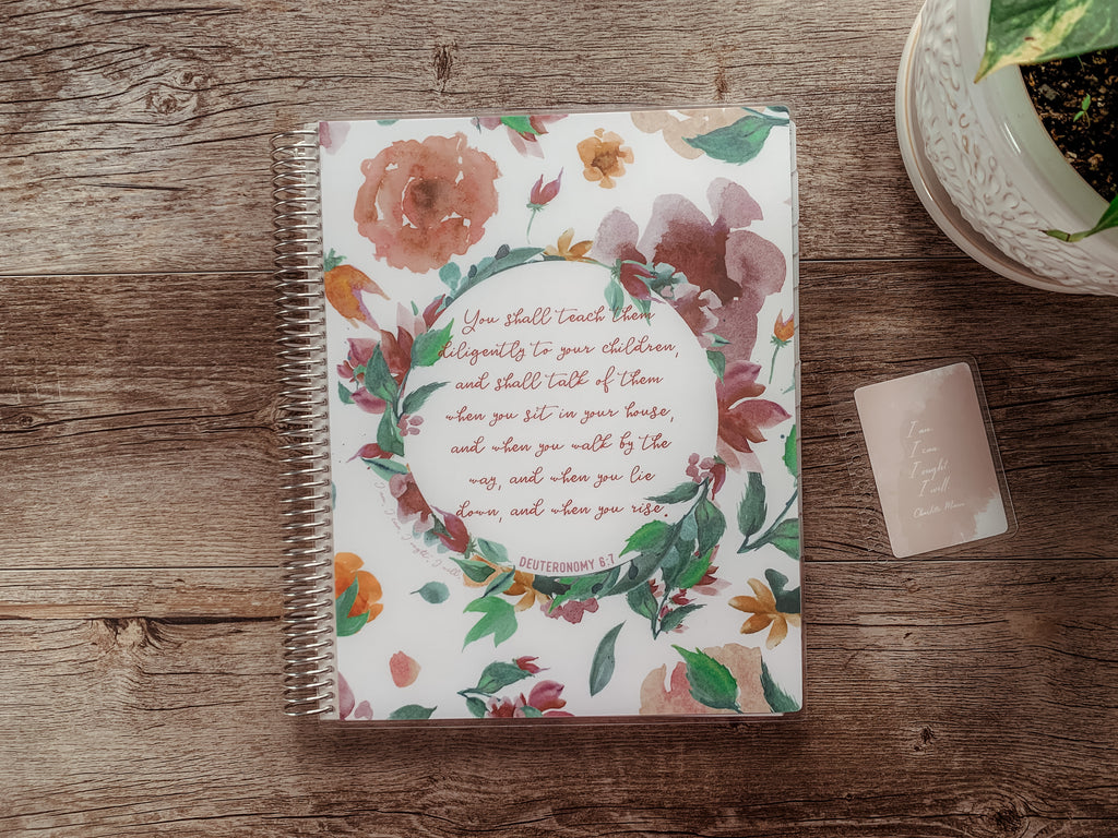 Floral Verse cover by ahumbleplace | Charlotte Mason Homeschool Planner