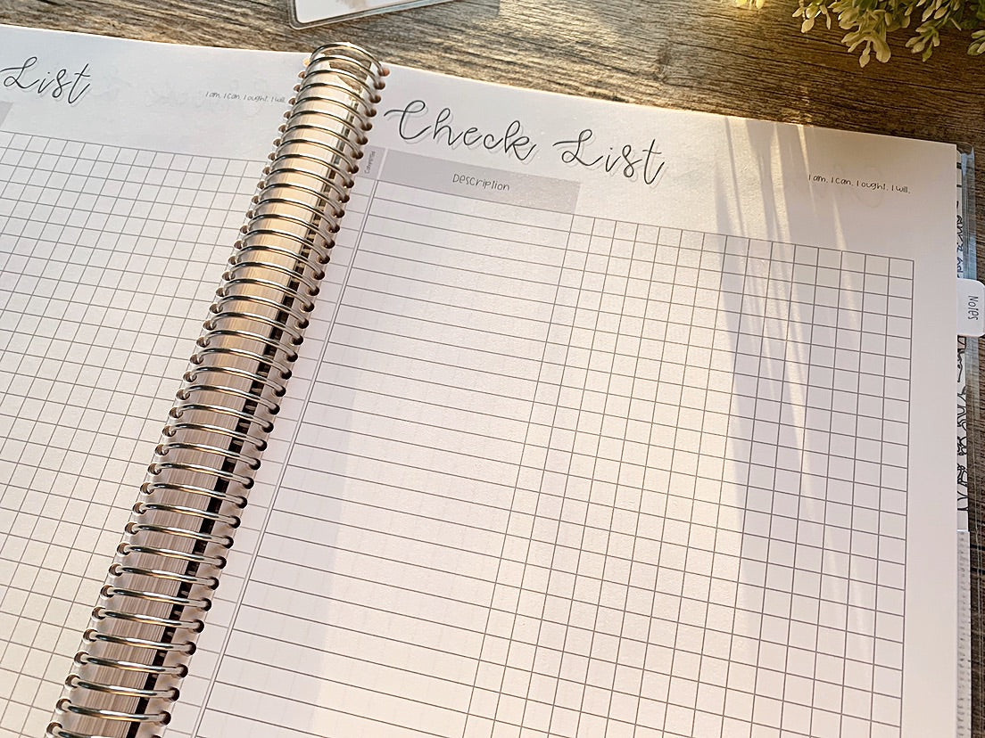 Red floral - Charlotte Mason Inspired Homeschool Planner