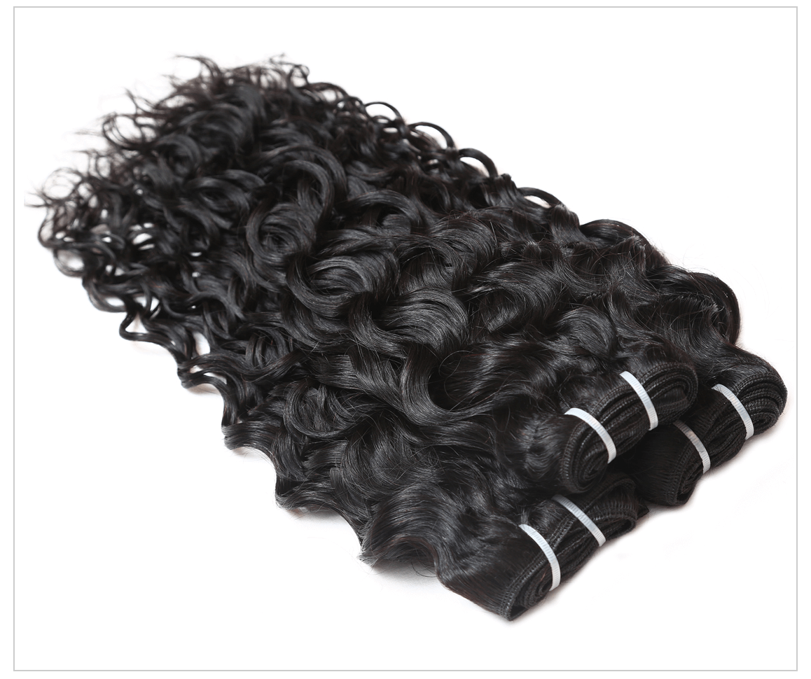 8a Malaysian Water Wave 3 Bundles Natural Wave Real Hair Extensions
