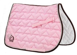 Pink Heart Saddle Pad