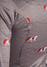 Load image into Gallery viewer, Red Horse On Gray Shirt